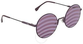 Fendi Waves Purple Stripes Round Ladies Sunglasses FF 0248/S B3V/XL