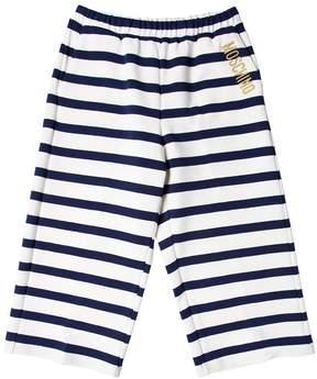 Moschino Striped Milano Jersey Pants