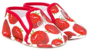 MonnaLisa strawberry print pre-walkers