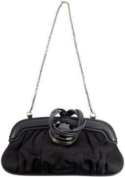 Tod's Black Cloth Clutch Bag