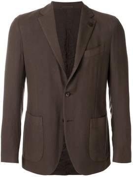 Lardini slanted pocket blazer jacket