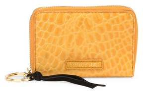 Elizabeth and James Croc Embossed Leather Card Case
