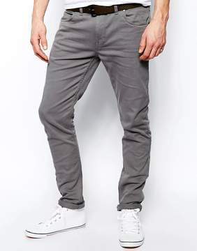 Farah Drake Slim Fit Jean In Gray Twill