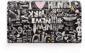 Henri Bendel 712 Graffiti Print Wallet