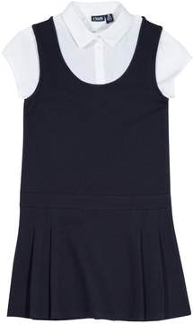 Chaps Girls 4-16 School Uniform Pleated Jumper with Shirt