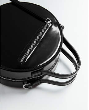 Express circle patent cross body bag