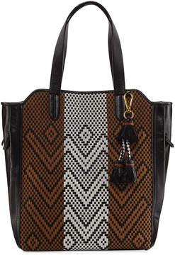 Elliott Lucca Marcel Chevron Woven Tote Bag, Black/Multi