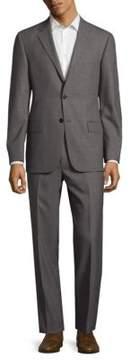 Hickey Freeman Textured Plaid Wool Suit