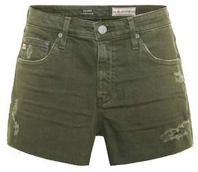 AG Jeans The Bryn distressed denim shorts