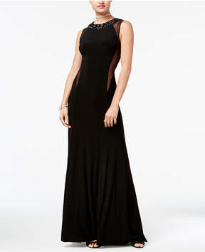 B. Darlin Juniors' Embellished Illusion Gown