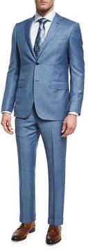 Ermenegildo Zegna Sharkskin Trofeo® Wool Two-Piece Suit, Light Blue