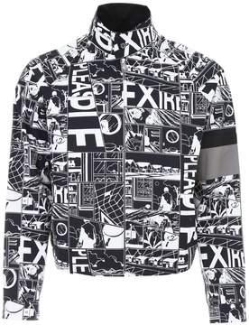 Prada Linea Rossa Comics Print Jacket