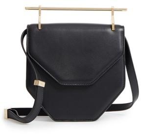 M2Malletier Mini Amor Fati Single Calfskin Leather Shoulder Bag - Black