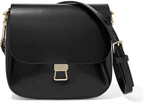 Theory Perry Leather Shoulder Bag - Black