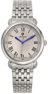 Croton Mens Silver-Tone Stainless Steel Watch