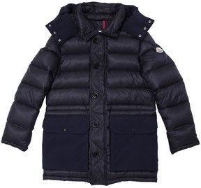 Moncler Jourdan Hooded Nylon Down Coat