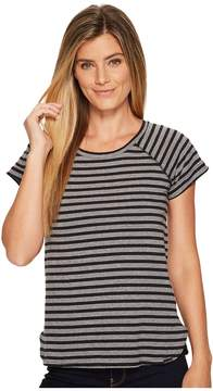 Columbia Trail Shaker Stripe Short Sleeve Shirt Women's T Shirt