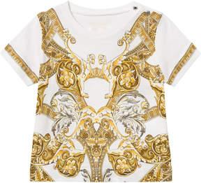 Versace White Baroque Print T-Shirt