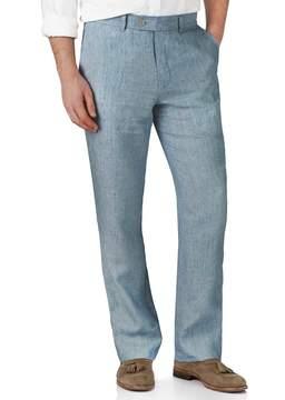 Charles Tyrwhitt Light Blue Classic Fit Linen Tailored Pants Size W32 L30