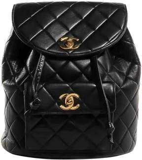 Vintage Chanel 2.55 Black Leather Backpacks