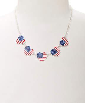 Carole Stars & Stripes Heart Charm Necklace