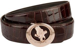 Stefano Ricci Eagle Crocodile Skin Belt