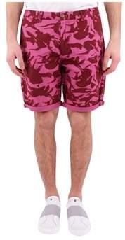 Scotch & Soda Men's Purple Cotton Shorts.