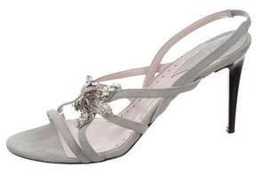 Versace Suede Star-Embellished Sandals