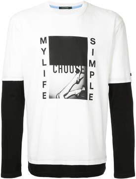 GUILD PRIME graphic print contrast T-shirt