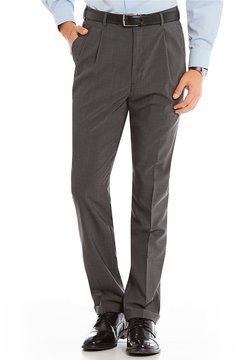 Roundtree & Yorke Roundtree and Yorke Ultimate Comfort Classic-Fit Pleated Wool Blend Dress Pants