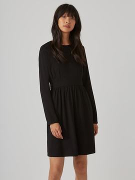 Frank and Oak Long-Sleeve Fit-And-Flare Dress in True Black
