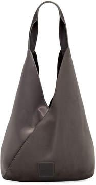 Neiman Marcus Suede Satin Hobo Bag