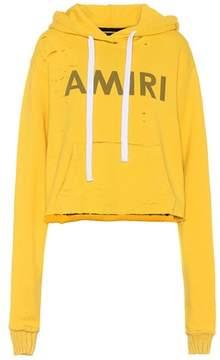 Amiri Printed cotton-blend hoodie