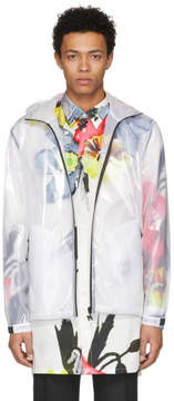 MSGM White Transparent Hooded Jacket