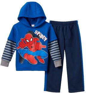 Marvel Toddler Boy Spider-Man Fleece-Lined Spidey Hoodie & Pants Set