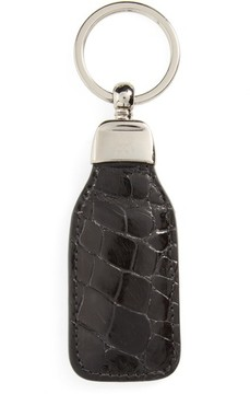 Mezlan Men's Alligator Leather Key Chain - Black