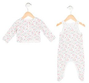 Petit Bateau Girls' Floral Print All-In-One Set