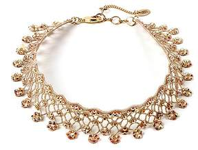Amrita Singh Nude Aria Lace Choker Necklace