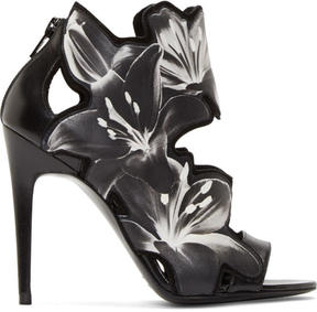 Pierre Hardy Black and White Laser-Cut Lily Heels
