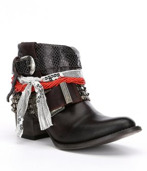 Freebird Shena Knotted Fabric Tie Buckle Detail Booties