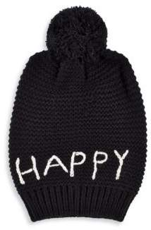 Hat Attack Happy Ribbed Beanie