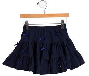 Lili Gaufrette Girls' Bow-Accented Skirt