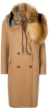 Ermanno Scervino long sleeved tie collar coat