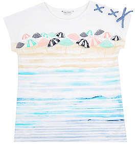Nautica Little Girls' Beach Umbrella Tee (2T-7)