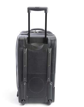 Royce Leather Royce Black Rolling Duffel Bag Luggage in Pebbled Leather