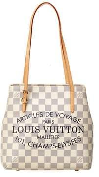 Louis Vuitton Limited Edition Damier Azur Canvas Cabas Adventure. - IVORY MULTI - STYLE