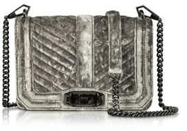 Rebecca Minkoff Women's Grey Velvet Shoulder Bag. - GREY - STYLE