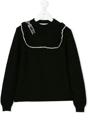 Simonetta ruffle detail sweater