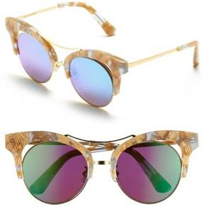 Gentle Monster Women's 52Mm Retro Sunglasses - Brown/ Bright Blue Mirror