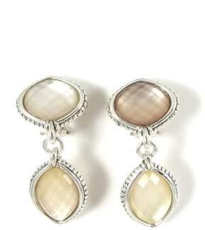 Lagos 925 Sterling Silver Venus Pink Mother of Pearl Doublet Drop Earrings